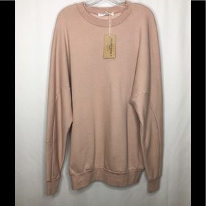 NWT Project Social Oversized Long Sleeve Pullover